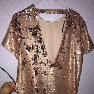 Blush Sparkly Dress